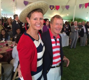 Dressed in gondola attire, Jennifer and Robert McNeil hosted the 2014 Garden Party.