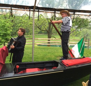 A gondola and strolling musicians helped set the tone for the Brandywine Health Foundations's 2014 Venetian-themed Garden Party.