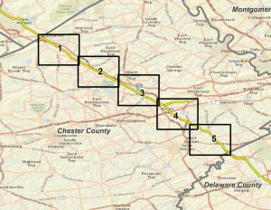The path of the proposed Mariner East II pipeline.