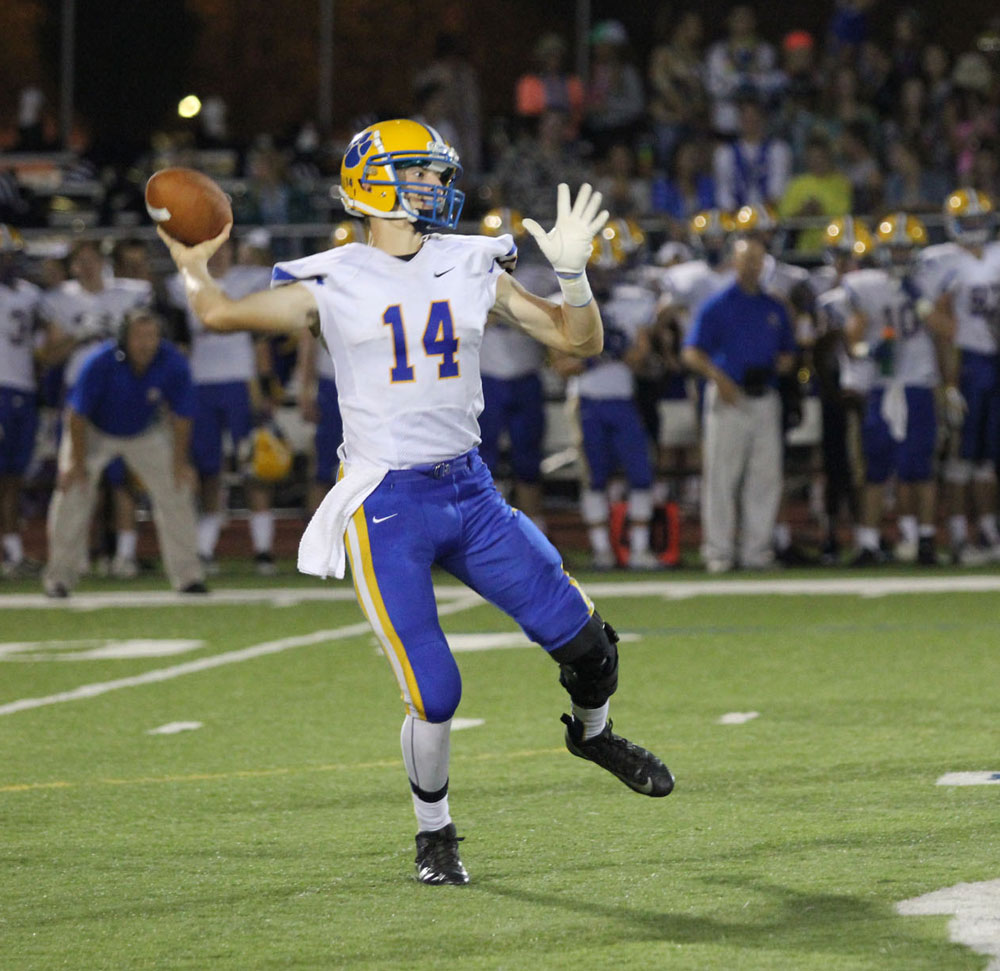 Downingtown East Quarterback Bryce Lauletta was effective in the air, throwing for 243 yards. Jim Gill photo.