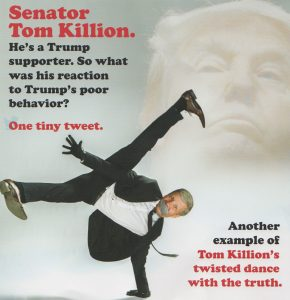 Sen. Tom Killion gets his moves on in a Marty Malloy mailer.